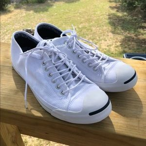 Converse Jack Purcell low white Sz 10 men's
